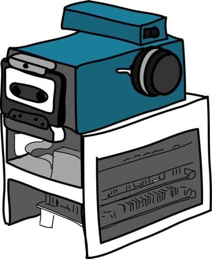 Drawing of Kodak's digital camera