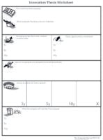 Innovation thesis worksheet, a worksheet from The Corporate Startup